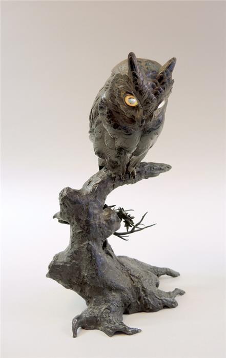 bronze figur eule japan objektdetail ginhart. Black Bedroom Furniture Sets. Home Design Ideas