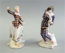 Nymphenburg, zwei Commedia dell'arte Figuren