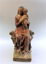 Thronende Madonna mit Kind